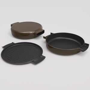 オブジェクト(ovject)鋳物ほうろう両手鍋