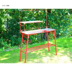 【送料無料】ネイチャートーンズ(NATURE TONES) The Kitchen Counter Table+オプションセット レッド KCT-R+OP