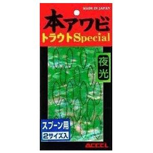 ACCEL(アクセル) 本アワビ トラウトスペシャル スプーン用 S-03 グローグリーン