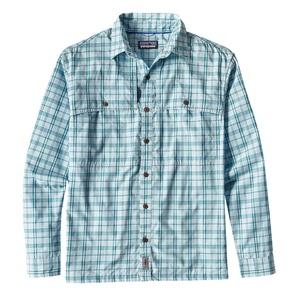 パタゴニア(patagonia) メンズ ロングスリーブ アイランド ホッパーII シャツ S AJBB(Amberjack:Bend Blue) 52181