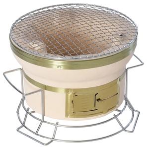 BUNDOK(バンドック) スタンド付き七輪 丸型 直径24cm 卓上使用可能のスタンド付き BD-423