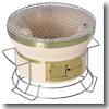 BUNDOK(バンドック) スタンド付き七輪 丸型 直径24cm 卓上使用可能のスタンド付き