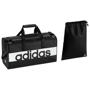 adidas(アディダス) リニアロゴチームバッグ 27L/S S99954(ブラックxブラックxホワイト) BVB04