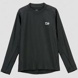 DE-6007 ロングスリーブ ラッシュガードシャツ L ブラック