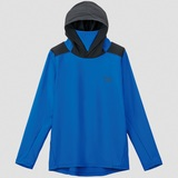 DE-6207 ロングスリーブ フーディーラッシュガードシャツ M ブルー