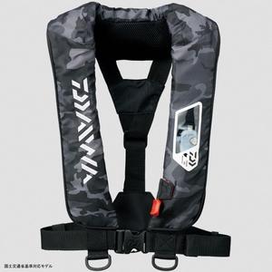 DF−2007 ウォッシャブルライフジャケット(肩掛けタイプ手動・自動膨脹式) フリー ブラックカモ