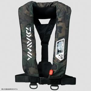 DF−2007 ウォッシャブルライフジャケット(肩掛けタイプ手動・自動膨脹式) フリー グリーンカモ