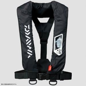 DF−2007 ウォッシャブルライフジャケット(肩掛けタイプ手動・自動膨脹式) フリー ブラック