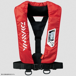 DF−2007 ウォッシャブルライフジャケット(肩掛けタイプ手動・自動膨脹式) フリー レッド