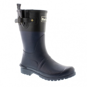 【送料無料】Barbour(バーブァー) Short Colour Block Welly 8 NavyxBlack 08210144052008