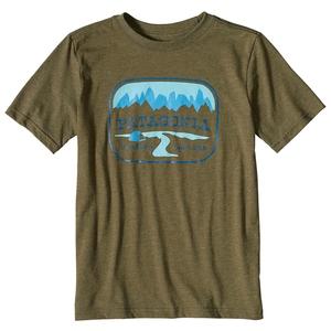 パタゴニア(patagonia) ボーイズ ポインテッド ウエスト コットン/ポリ Tシャツ S GORG(Gorge Green) 62217