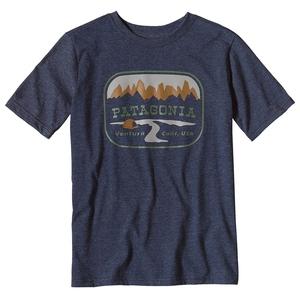 パタゴニア(patagonia) ボーイズ ポインテッド ウエスト コットン/ポリ Tシャツ S NVYB(Navy Blue) 62217