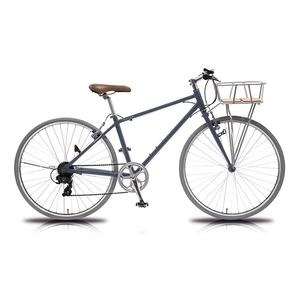 【送料無料】vittoria(ヴィットリア) 700Cアルミクロスバイク 6段変速 Fritz DG(ダークグレー) TR-C7004-DG