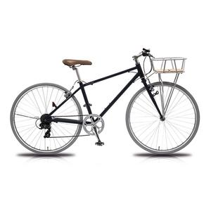 【送料無料】vittoria(ヴィットリア) 700Cアルミクロスバイク 6段変速 Fritz CB(クリスタルブラック) TR-C7004-CB