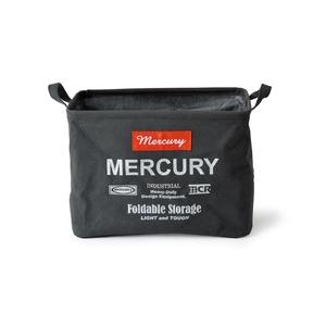 MERCURY(マーキュリー) キャンバス レクタングルボックス M ブラック MECARBMB