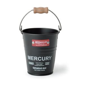 MERCURY(マーキュリー) ブリキミニバケツ マットブラック MEBUMBMB