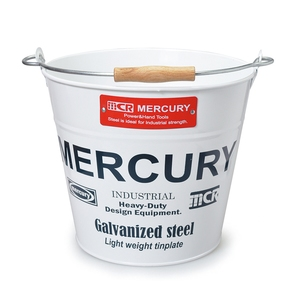 MERCURY(マーキュリー) ブリキバケツ レギュラー ホワイト MEBUBRWH