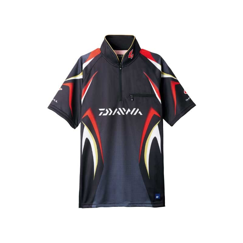 ダイワ(Daiwa) DE-7107 スペシャル アイスドライ ジップアップ半袖メッシュシャツ L ブラック 04517952