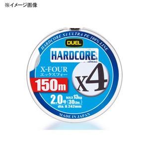 デュエル(DUEL) HARDCORE X4(ハードコア エックスフォー) 150m 0.8号 シルバー
