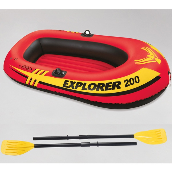 INTEX(インテックス) エクスプローラー 2人用 ゴムボート オール/ミニポンプ付 #58331 ビーチ・プール用品