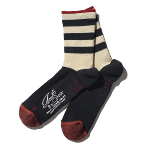 ANDSOX(アンドソックス) SUPPORT PILE ANKLE M NAVY STRIPE ASSMSPA2093