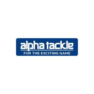 アルファタックル(alpha tackle) alphatackle ステッカー 150mm ブルー 20054