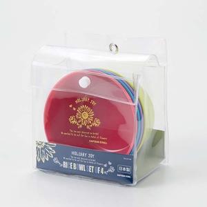 キャプテンスタッグ(CAPTAIN STAG) ホリデージョイ 抗菌どんぶり600ml 4P UT-48 メラミン&プラスティック製お皿