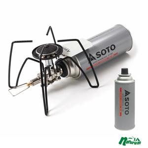 SOTO レギュレーターストーブ+パワーガス【お得な2点セット】 ST-N310WH ガス式