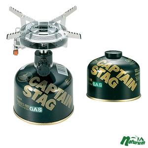 キャプテンスタッグ(CAPTAIN STAG) オーリック小型ガスバーナーコンロ+レギュラーガスカートリッジCS-250 M-7900+M-8251