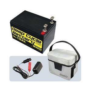 bmojapan(ビーエムオージャパン) ディープサイクルバッテリー13Ah 本体、チャージャー、バッグセット BM-D13-SET ボート用バッテリー