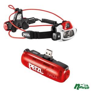 アウトドア&フィッシング ナチュラム【送料無料】PETZL(ペツル) NAO+(ナオプラス)+専用バッテリー【お得な2点セット】 E36AHR 2B