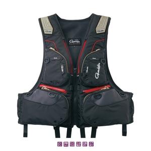 がまかつ(Gamakatsu) GM-2175 フローティングベスト M ブラックxレッド 52175