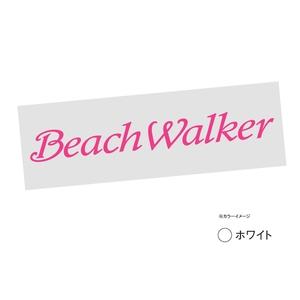デュオ(DUO) BeachWalkerロゴ転写シール ホワイト