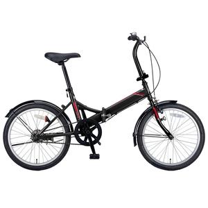 【送料無料】キャプテンスタッグ(CAPTAIN STAG) クエント FDB201 折り畳み自転車 20インチ 1段変速 軽量 20インチ ブラック YG-323