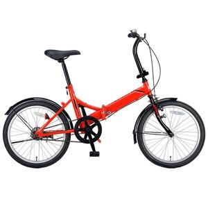【送料無料】キャプテンスタッグ(CAPTAIN STAG) クエント FDB201 折り畳み自転車 20インチ 1段変速 軽量 20インチ レッド YG-325