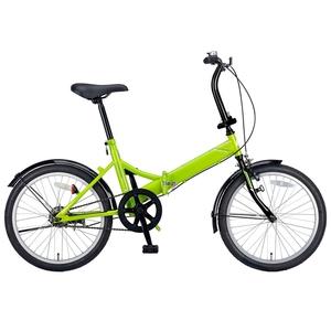 【送料無料】キャプテンスタッグ(CAPTAIN STAG) クエント FDB201 折り畳み自転車 20インチ 1段変速 軽量 20インチ グリーン YG-326