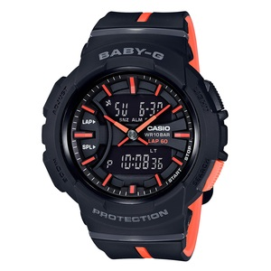 【送料無料】Baby-G(ベビージー) BGA-240L-1AJF 46.4x42.6 ブラックxオレンジ