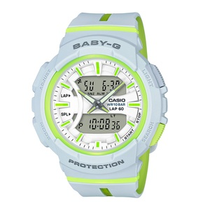【送料無料】Baby-G(ベビージー) BGA-240L-7AJF 46.4x42.6 ホワイトxグリーン