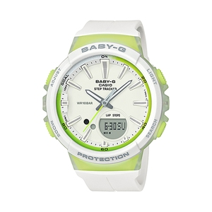 【送料無料】Baby-G(ベビージー) BGS-100-7A2JF ホワイトxライムグリーン