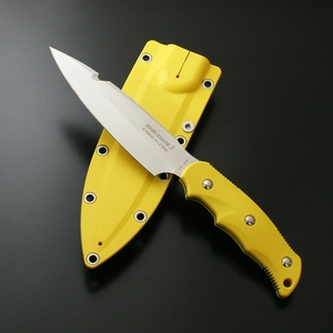 【送料無料】G・サカイ ニューサビナイフ 3 サバキ4寸5分 ガットフック付 刃長(131mm) イエロー 11501