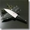 サビナイフ 4 出刃鯱 片刃 直刃刃長(170mm)ブラック