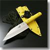 サビナイフ 4 出刃鯱片刃イエロー