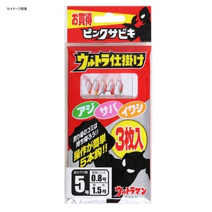 OGK(大阪漁具) ウルトラ仕掛け(ピンクサビキ3枚入) 7号 US187
