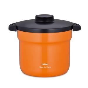 【送料無料】サーモス(THERMOS) 真空保温調理器シャトルシェフ 4.3L オレンジ KBJ-4500