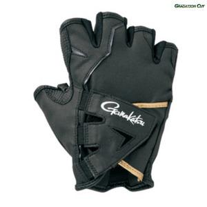 がまかつ(Gamakatsu) クロスベルトフィッシンググローブ(5本切ショート) GM-7259 LL ブラックxブラック 57259-14-0
