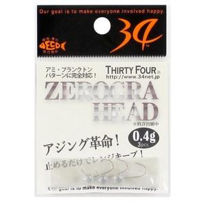 34(サーティーフォー) ゼログラヘッド ワームフック(ライトソルト用)