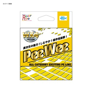 アルファタックル(alpha tackle) PeeWee WX4(ピーウィー WX4) 150m 0.8号 イエロー 24635