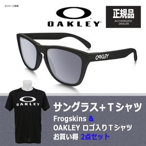 【送料無料】OAKLEY(オークリー) Frogskins(フロッグスキン) + Tシャツ 【お買い得2点セット】 グレー ポラライズド