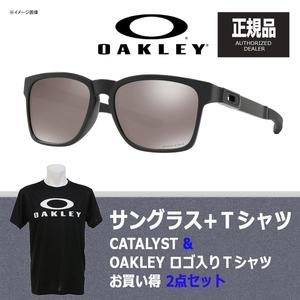 【送料無料】OAKLEY(オークリー) CATALYST(カタリスト) + Tシャツ 【お買い得2点セット】 プリズム ブラック ポラライズド