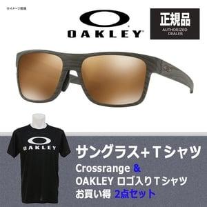 【送料無料】OAKLEY(オークリー) Crossrange(クロスレンジ) + Tシャツ 【お買い得2点セット】 プリズム タングステン ポラライズド